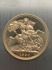 1980 Elizabeth II Full Gold  Sovereign - excellent Condition