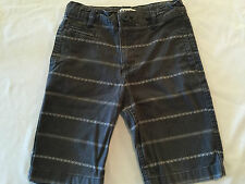 OLD NAVY GRAY STRIPED SHORTS YOUTH SIZE 7