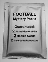 *RARE* FOOTBALL HOT PACKS 1st EDITION! 2 Autos or Jerseys/4 inserts/2 RCs PACK