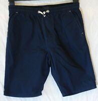 Boys Next Dark Navy Blue Drawstring Waist Chino Cotton Board Shorts Age 13 Years