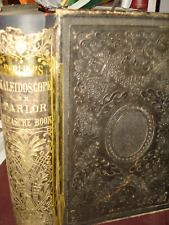 1861 LIMITED EDITION>KALEIDOSCOPE OR PARLOR PLEASURE BOOK+100 RARE ENGRAVINGS