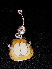 Garfield  the cat Belly Ring Navel Ring 14G Surgical Steel Dangle