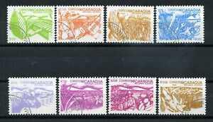 NICARAGUA, 1983 timbres 1303/10, Réf. agraire oblitérés