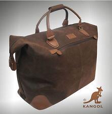 Designer Genuine Kangol Travel Bag Overnight Holdal Hand Luggage Cabin Bag Brown