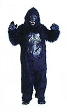 Black Gorilla Suit Furry Animal Mascot Deluxe Dress Up Halloween Adult Costume