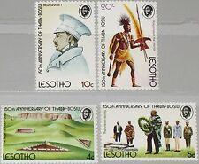 LESOTHO 1974 170-73 Thaba Bosiu becoming Capital Krieger Warrior Landscape MNH