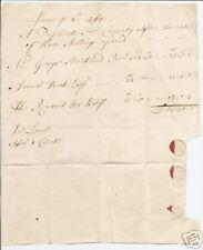 Yorkshire 1750 MS Land Tax Receipt - Carnaby - Sir Geo Strickland