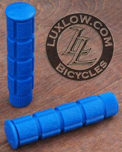 Blue Fixie Track Bike Grips Fixed Gear Old School BMX MTB Cruiser Bicycle Grip