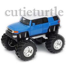 """Welly 4.75"""" Monster Truck Big Foot Toyota FJ Cruiser Diecast Car 47003-8D Blue"""