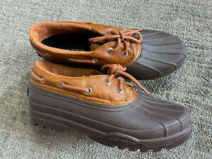 Sperry Top-Sider Heron STS97710 Seal Brown Womens Sze 9M Ankle Rain Duck Boots