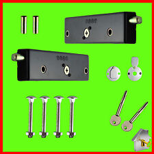 Garage Door Bolt Locks - Heavy Duty - Pair - Garage Security - Keyed Alike