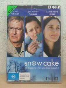 Snow Cake DVD DRAMA Sigourney Weaver, Alan Rickman, Carrie Anne Moss RARE