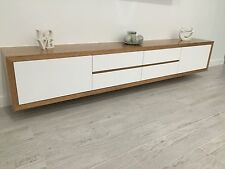 Local Made Fairmont+ Tv Entertainment Unit Wall Mounted Polyurethane Tassie Oak