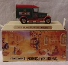 MJ7 Matchbox - Collectibles - YGB04 - 1929 Morris Light Van - Green - Fullers