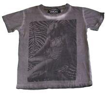 HOUSE OF THE GODS Toddler Boy's Grey Zebra Stripe Shirt BS30DHF01 4-5 Yrs NEW