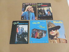 BLONDIE VERY RARE 5 x SET OF ORIGINAL UK SONG SHEET MUSIC BOOKLETS DEBBIE HARRY