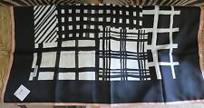 "COACH BLACK WHITE & MELON GEOMETRIC SILK SCARF (32"" SQUARE) NWT RETAIL $98"