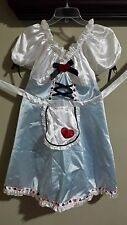 Alice in Wonderland Costume Adult Size Medium/Large with White Tights