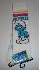 Nerd Smurf White 1 Pair Women's Knee High Socks The Smurfs Cartoon Striped NEW