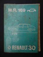 REVUE TECHNIQUE AUTOMOBILE RTA MR 169 RENAULT 30