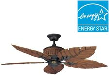 52 Inch Ceiling Fan Indoor Outdoor Rustic Iron 5 Blade Cottage Decorative Large