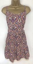 Primark Summer Dress Purple Floral Tile Print Hippy Boho Lacey Strappy Size 18