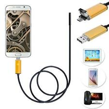 2 in 1 Android USB Endoscope Inspection 7mm Camera 6 LED HD IP67 Waterproof 10M