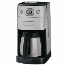 Cuisinart DGB-650 10 Cup Grind and Brew Thermal Automatic Coffeemaker Silver/Bla