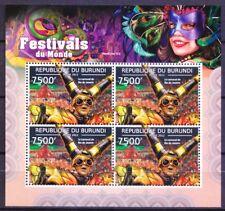 Festivals, Carnival Rio De Janeiro, Burundi 2012 MNH SS (R6n)