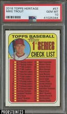 2018 Topps Heritage #57 Mike Trout Angels PSA 10 GEM MINT Auction #2
