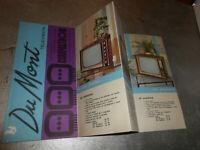 Vecchia pubblicita' TELEVISIONE DU MONT - COMPACTRON vintage COLLEZIONE