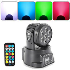 7-LED RGBW Moving Head Stage Lighting DJ Party Light DMX + Remote Bühnenlicht DE