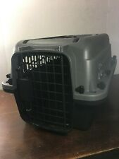 Plastic Pet Carrier Grreat Choice Gray and Black 20in x 13in x 11in Not Used