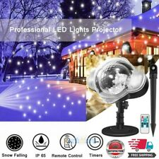 LED Laser Light Snowfall Snowflake Projector Lamp for Christmas In/Outdoor Decor