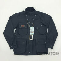 BOB DONG International Jacket Vintage Men's Motorcycle Snap-Zip Jacket For Biker