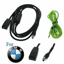 Car Audio AUX 3.5mm In Input Interface Adapter Music Cable For BMW E46 98-06 MP3