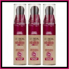 3 X L'Oreal Infallible Ultra-Long Wear Foundation Brush-Perfect 125 Natural Rose