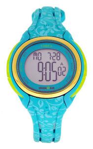 Timex Damen IRONMAN 50 LAP MID TW5M03100 Türkis Alarm Stopp UVP:109,90€ NEU