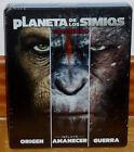 Trilogia der Planet Der Affen 3 Blu-Ray Neu Steelbook (Ohne Offen ) A-B