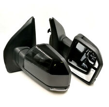 15-18 F150 Painted Black Side Mirror Power Heat Turn Signal Puddle Light 22 Pin