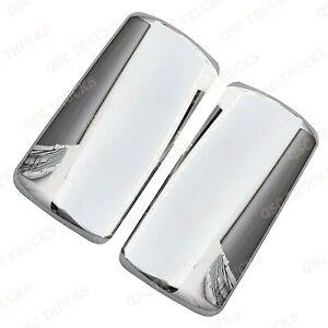 QSC Chrome Door Mirror Covers Right Left Pair for International LT625 Trucks