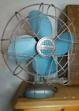 "Vintage Fan 14"" Electrohome Long Life Blue Model 1065 Working AS-IS"