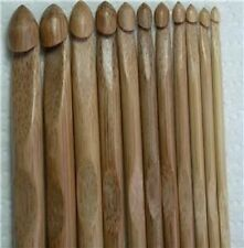11 Bamboo knitting needles crochet hooks 3.0-10mm (C-N)