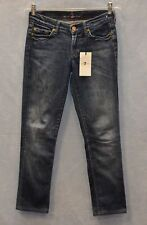 B6 NEW SEVEN 7 FOR ALL MANKIND Roxanne Slim Straight Leg Jeans Size 25 $169
