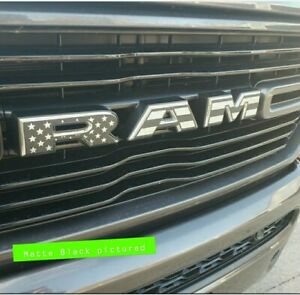 Ram American flag vinyl Decals for 2019-2021 RAM 1500 - Grille