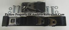 GM Deluxe Chevy Lap Seat Belts Complete Kit Classic Musclecar Chevy Black ,60""