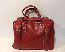 superbe Valise  sac a main sport  voyage vintage Rouge  Grande taille