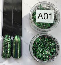 Chameleon Flakes Nail art  Mirror decoration Effect Multi Chrome Ultra Fine A-01