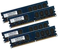 4x 2GB 8GB ECC Unbuffered RAM Arbeitsspeicher DDR2 800 Mhz UDIMM PC2-6400E 240p