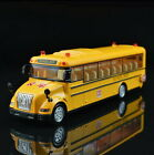 New 1:55 KDW Yellow School Bus toy Diecast metal Model pullback racers music JA